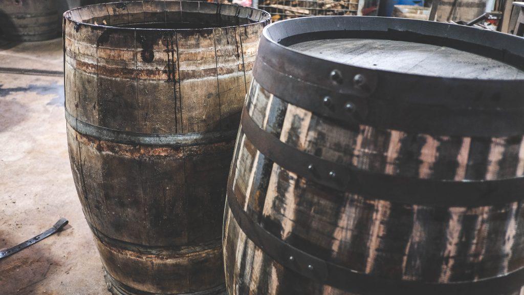 used port wine barrel